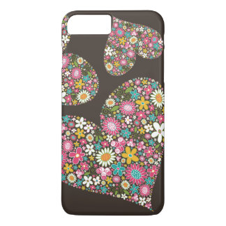 Whimsical Pink Spring Flowers Floral Hearts Casing iPhone 7 Plus Case