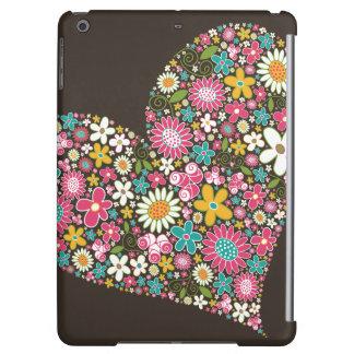 Whimsical Pink Spring Flowers Heart Custom Casing