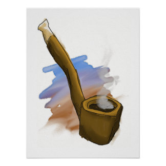Whimsical Pipe Illustration Poster