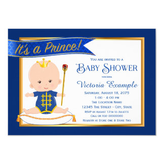 Whimsical Prince Baby Shower Invitations