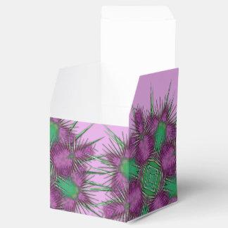 Whimsical Purple Scottish Thistle Floral Design Favour Box
