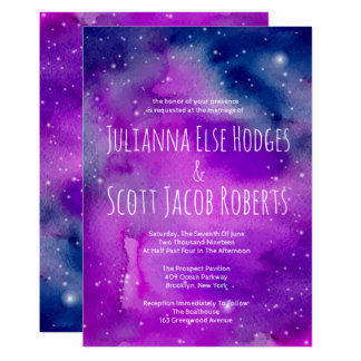 Whimsical Purple Wedding Invitations
