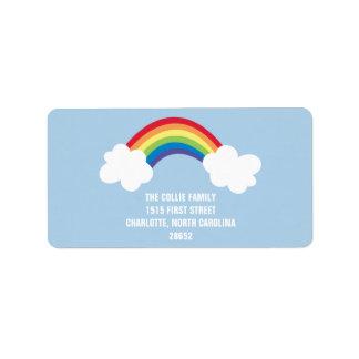 Whimsical Rainbow Address Label