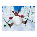 Whimsical Reindeer: Clumsy Skier