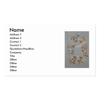 Whimsical Renaissance Cherub Angels Pack Of Standard Business Cards