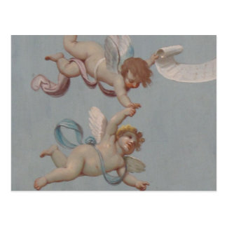 Whimsical Renaissance Cherub Angels painting Postcard