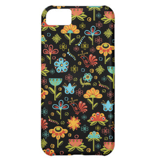 Whimsical Retro Flowers and Birds iPhone 5C Case