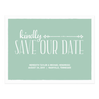 Whimsical Rustic Save the Date Post Cards