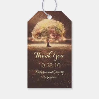 Whimsical Rustic Tree Lights Fall Wedding Gift Tags