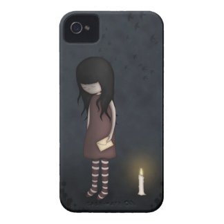 Whimsical Sad, Melancholy Young Girl with a Candle iPhone 4 Case-Mate Case