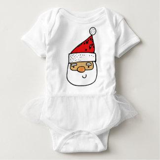 Whimsical Santa Claus Trendy Humorous Modern Baby Bodysuit