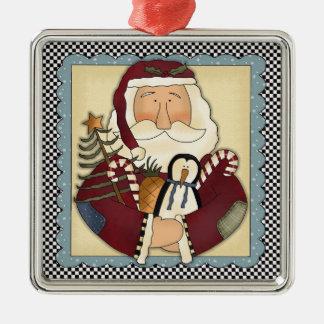 Whimsical Santa Folk Art Christmas Keepsake Christmas Ornament
