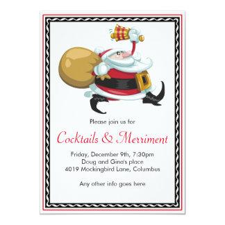 Whimsical Santa Holiday Party Card