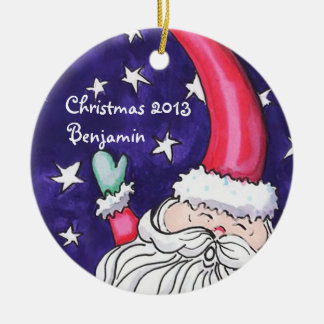 Whimsical Santa Personalized Ornament