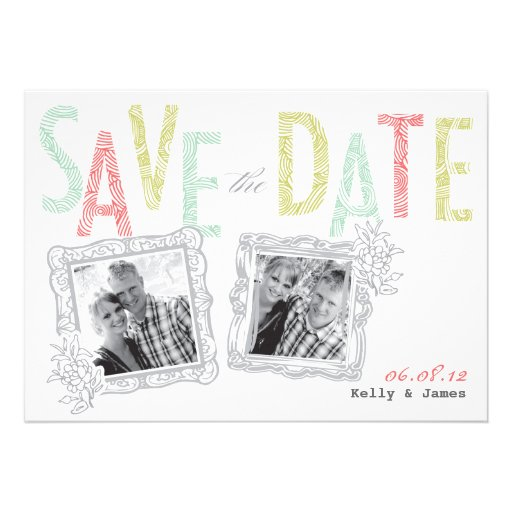 Whimsical Save the Date Invites