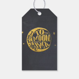 Whimsical Saying With Gold Moon Black Back
