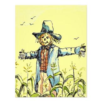 WHIMSICAL SCARECROW Corn Maze PARTY INVITATION