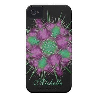 Whimsical Scottish Thistle Head Floral Design iPhone 4 Case-Mate Case