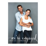 WHIMSICAL SCRIPT PHOTO ENGAGEMENT PARTY INVITATION