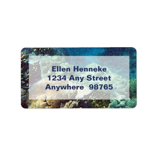 Whimsical Seahorse Address Label