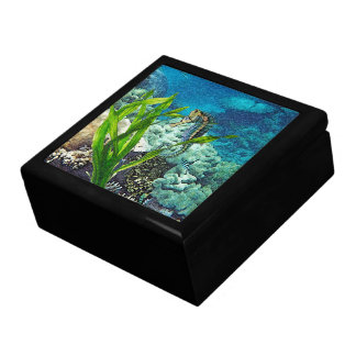 Whimsical Seahorse Large Square Gift Box
