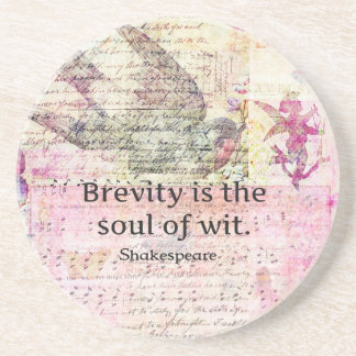 Whimsical Shakespeare quote from Hamlet Drink Coasters