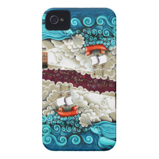 Whimsical Ship on Stormy Sea Blackberry Bold Case