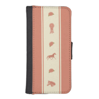 Whimsical Show Pony Horse Pattern iPhone SE/5/5s Wallet Case