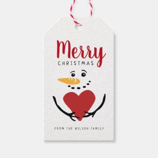 Whimsical Snowman Gift Tag