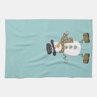 Whimsical Snowman Tea Towel