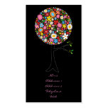 Whimsical Spring Flowers Pop Tree Colourful Nature Pack Of Standard Business Cards