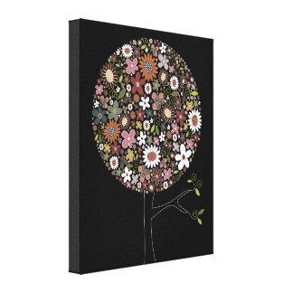 Whimsical Spring Flowers Pop Tree Nursery Wall Art