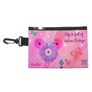 Whimsical Spring HIDDEN MICKEY Clip On Purse Accessory Bag