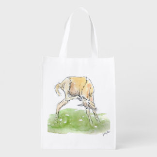 Whimsical Spring Horse Foal Reusable Grocery Bag