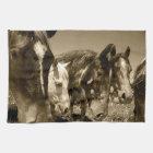 Whimsical Stallions Horse Kitchen Towel