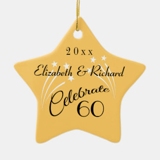 Whimsical Star 60th Anniversary Gifts-Christmas Christmas Ornament