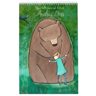 Whimsical Storybook Art Calendar by Andrea Doss