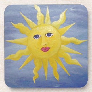 Whimsical Sun Beverage Coaster