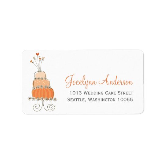 Whimsical Sweet Wedding Cake Custom Address Labels