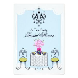 "Whimsical Tea Party Invitation 5"" X 7"" Invitation Card"
