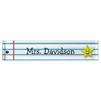 Whimsical Teacher's Custom Desk Nameplate