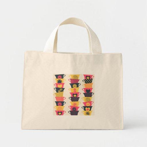 Whimsical Teacups Canvas Bags