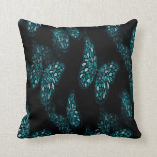 Whimsical Teal Butterfly American MoJo Pillow