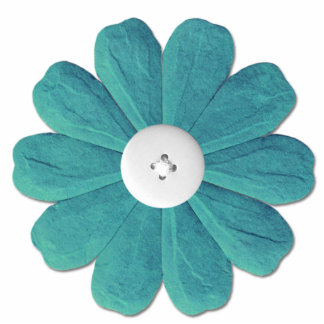 Whimsical Teal Flower Acrylic Cut Outs