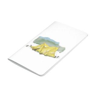 Whimsical Tent Illustration Pocket Journal