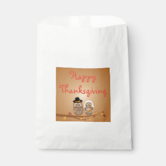 Whimsical Thanksgiving Owls Favour Bags