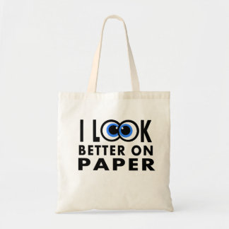 Whimsical Tote Bag with Big Silly Eyes Funny Words