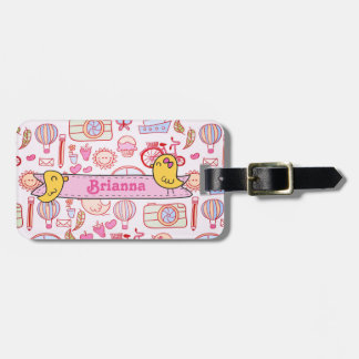 Whimsical Travel Luggage Tag