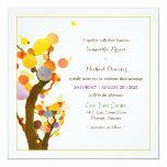 Whimsical Tree Art Boho Wedding 13 Cm X 13 Cm Square Invitation Card