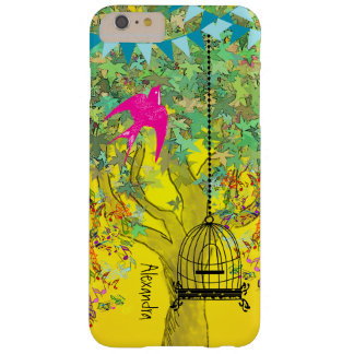 Whimsical Tree Birdcage Colorful Musical Tree Barely There iPhone 6 Plus Case